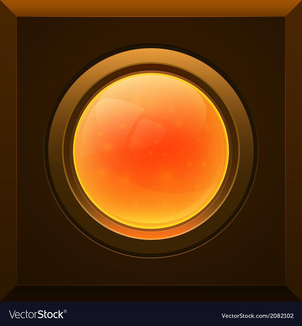 Orange glossy button vector   Price: 1 Credit (USD $1)