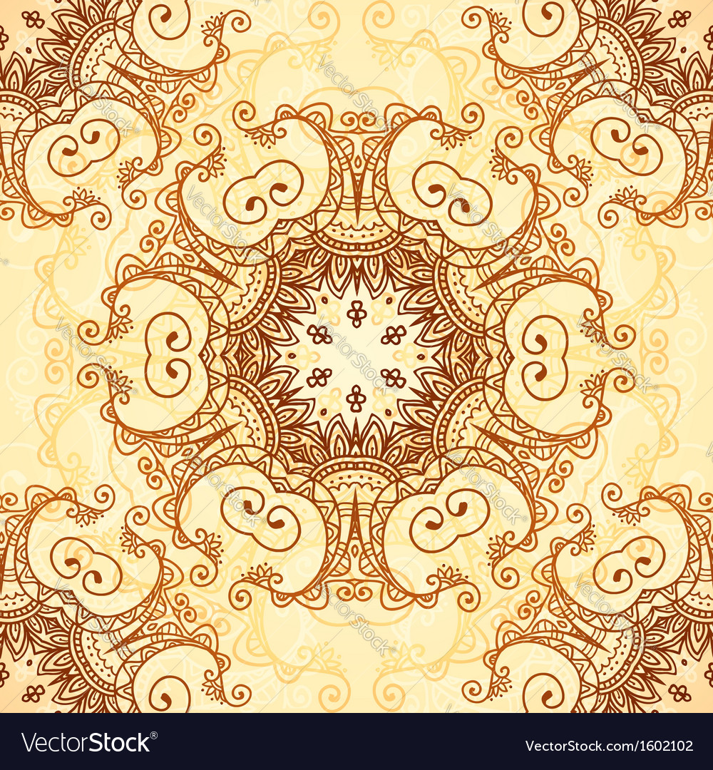 Ornate vintage pattern in mehndi style vector | Price: 1 Credit (USD $1)