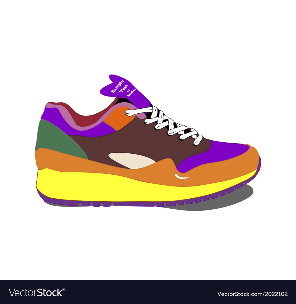 Running shoes vector | Price: 1 Credit (USD $1)