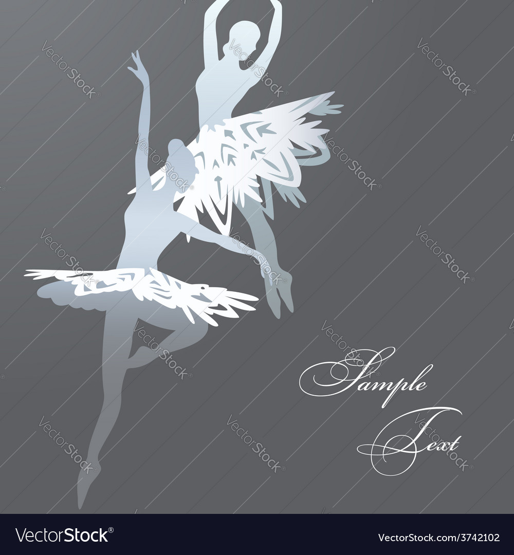 Snowflake ballet dancers vector | Price: 1 Credit (USD $1)