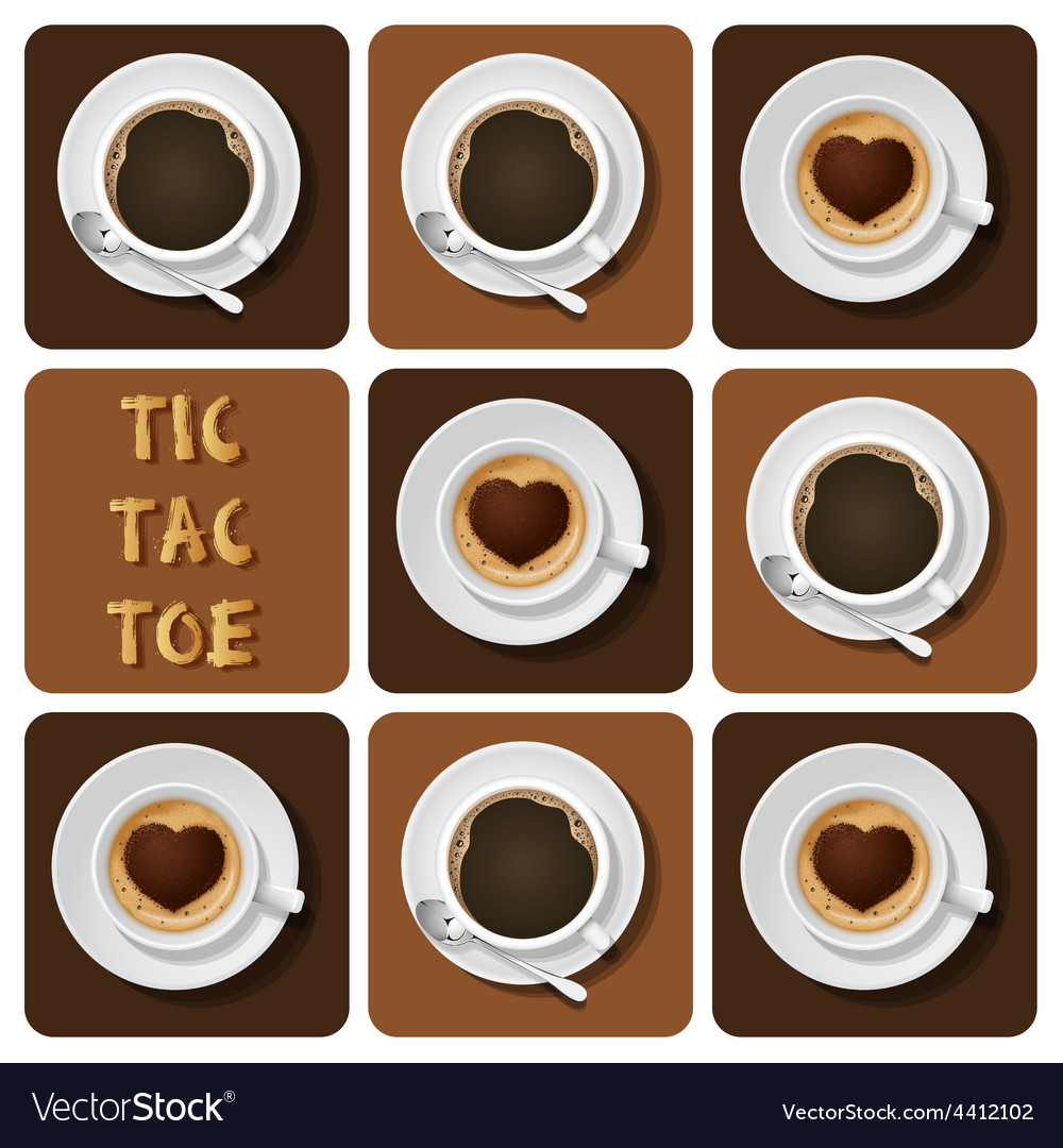 Tic-tac-toe of cappuccino and espresso vector | Price: 3 Credit (USD $3)