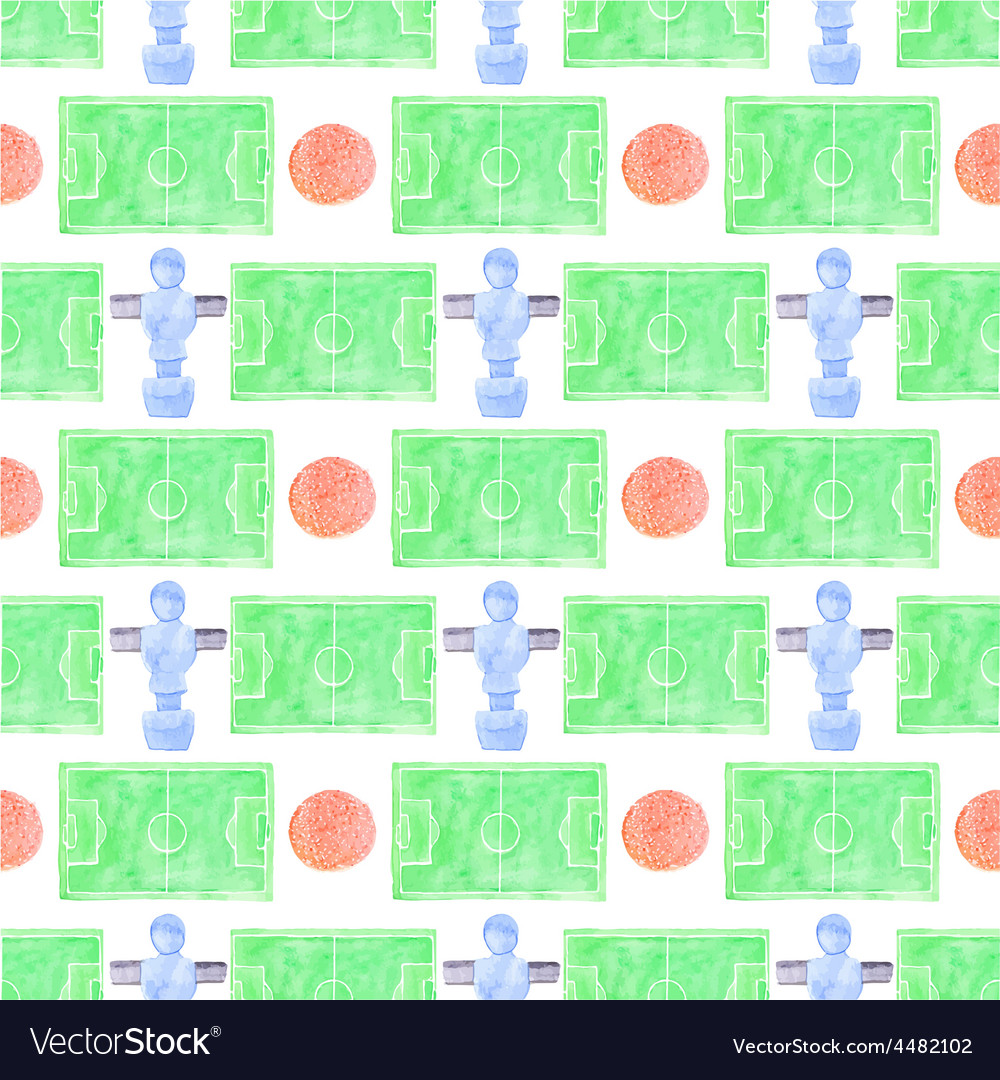 Watercolor seamless pattern with ball player and vector | Price: 1 Credit (USD $1)