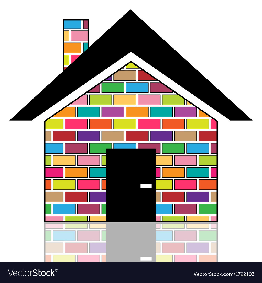 A colorful house vector   Price: 1 Credit (USD $1)