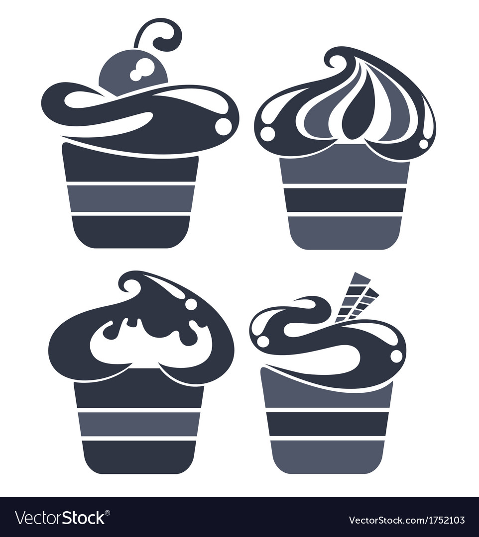 Cakes silhouettes vector | Price: 1 Credit (USD $1)