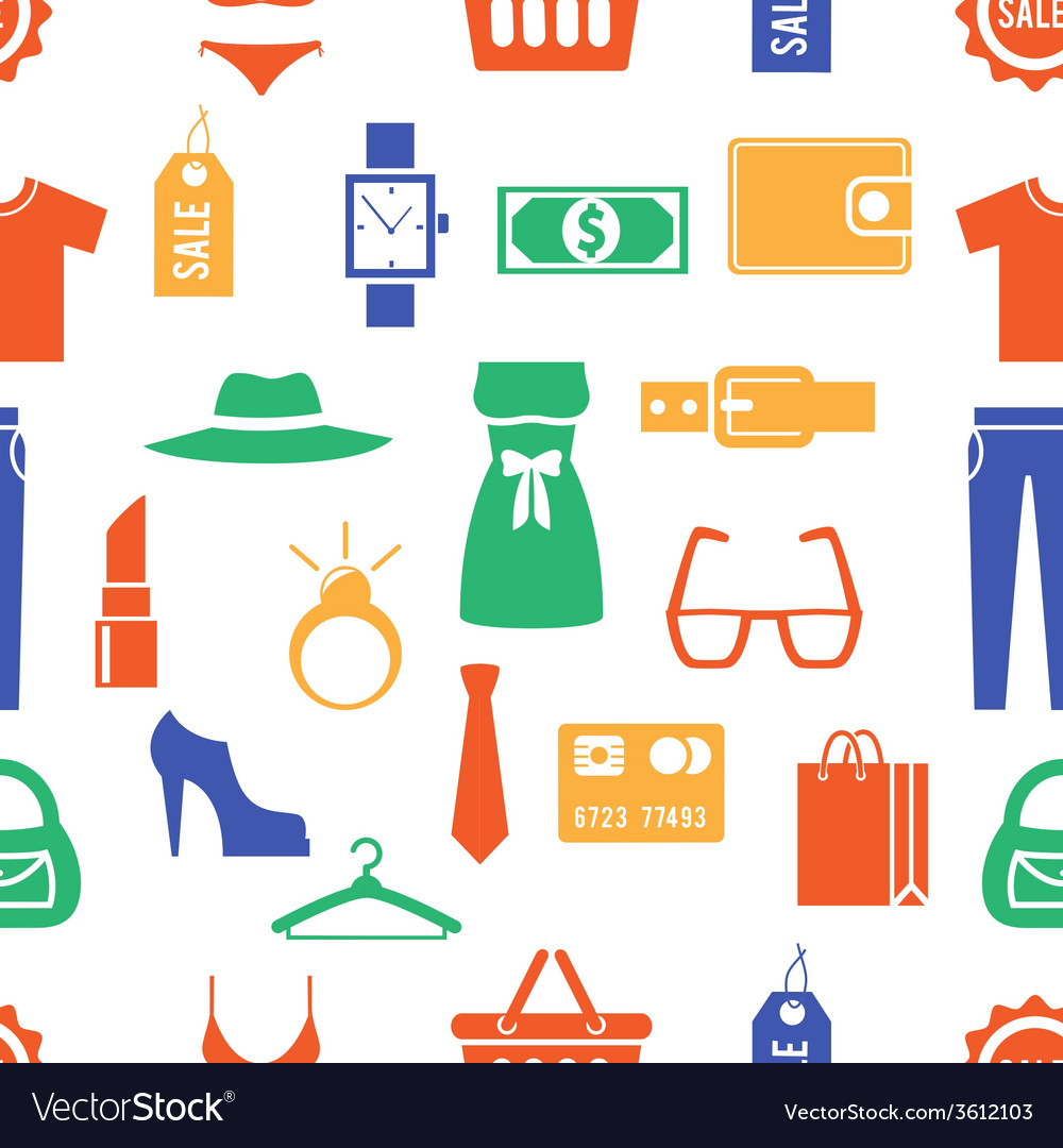 Colorful clothing and accessories themed graphics vector | Price: 1 Credit (USD $1)