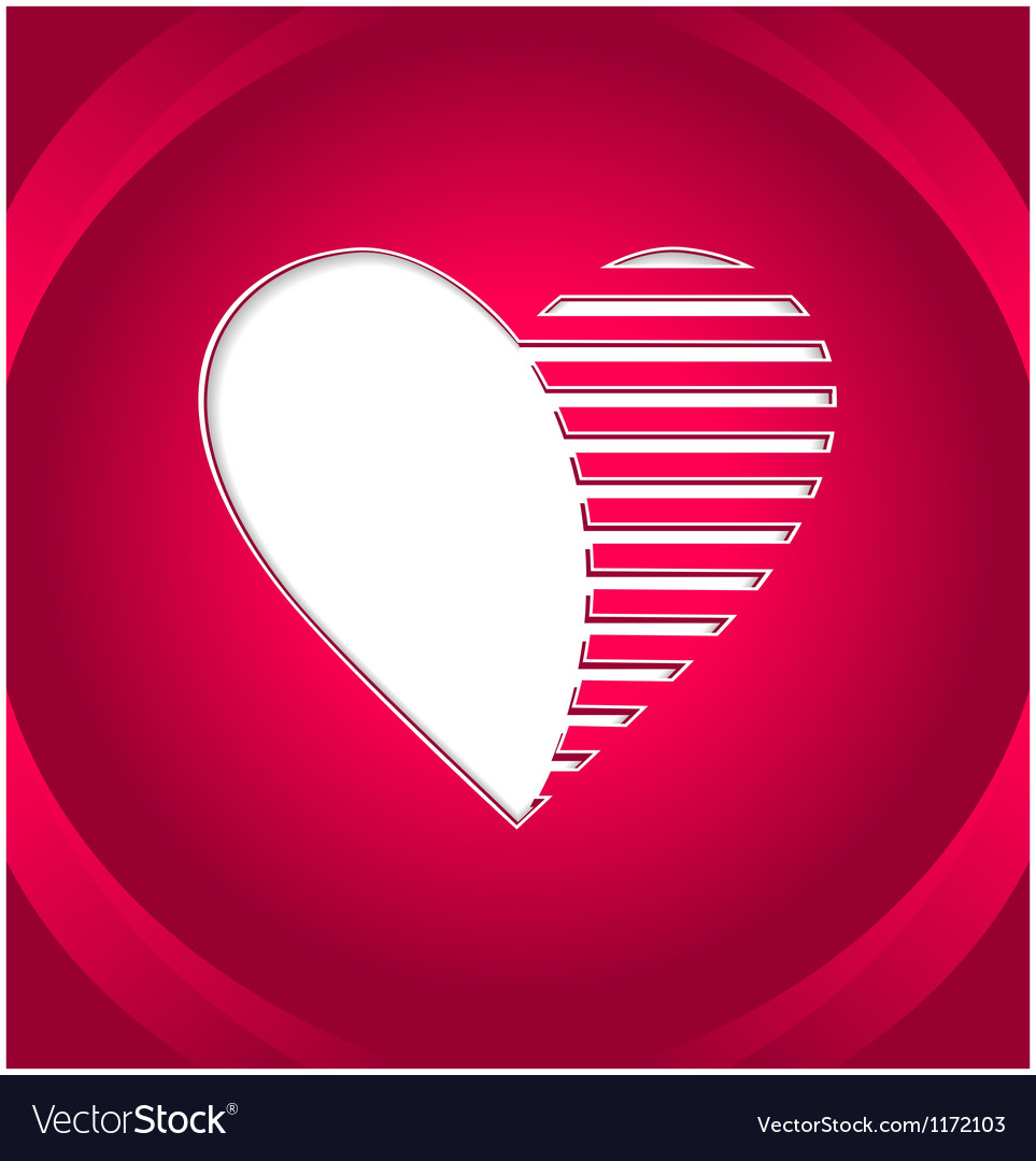 Creative heart button vector | Price: 1 Credit (USD $1)