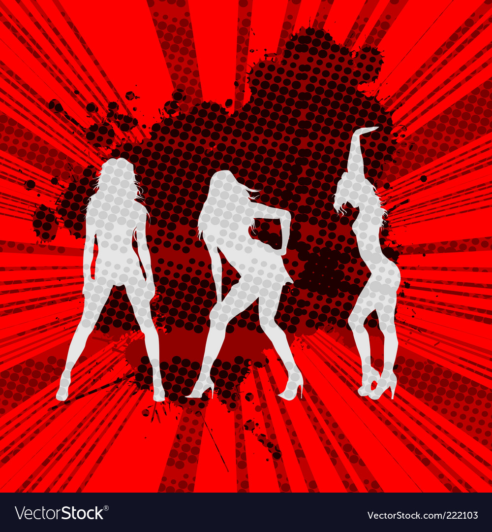 Girls silhouettes vector | Price: 1 Credit (USD $1)