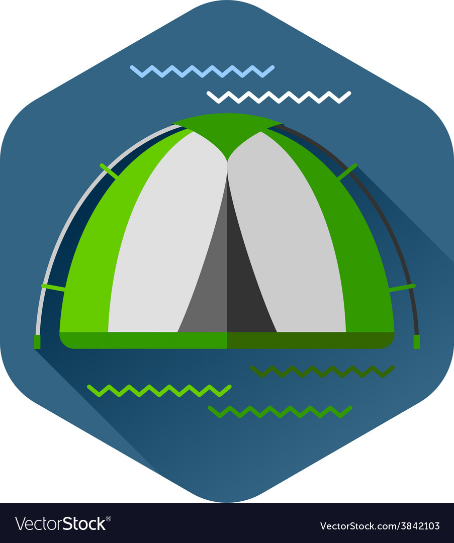 Graphical camping made in flat style vector | Price: 1 Credit (USD $1)