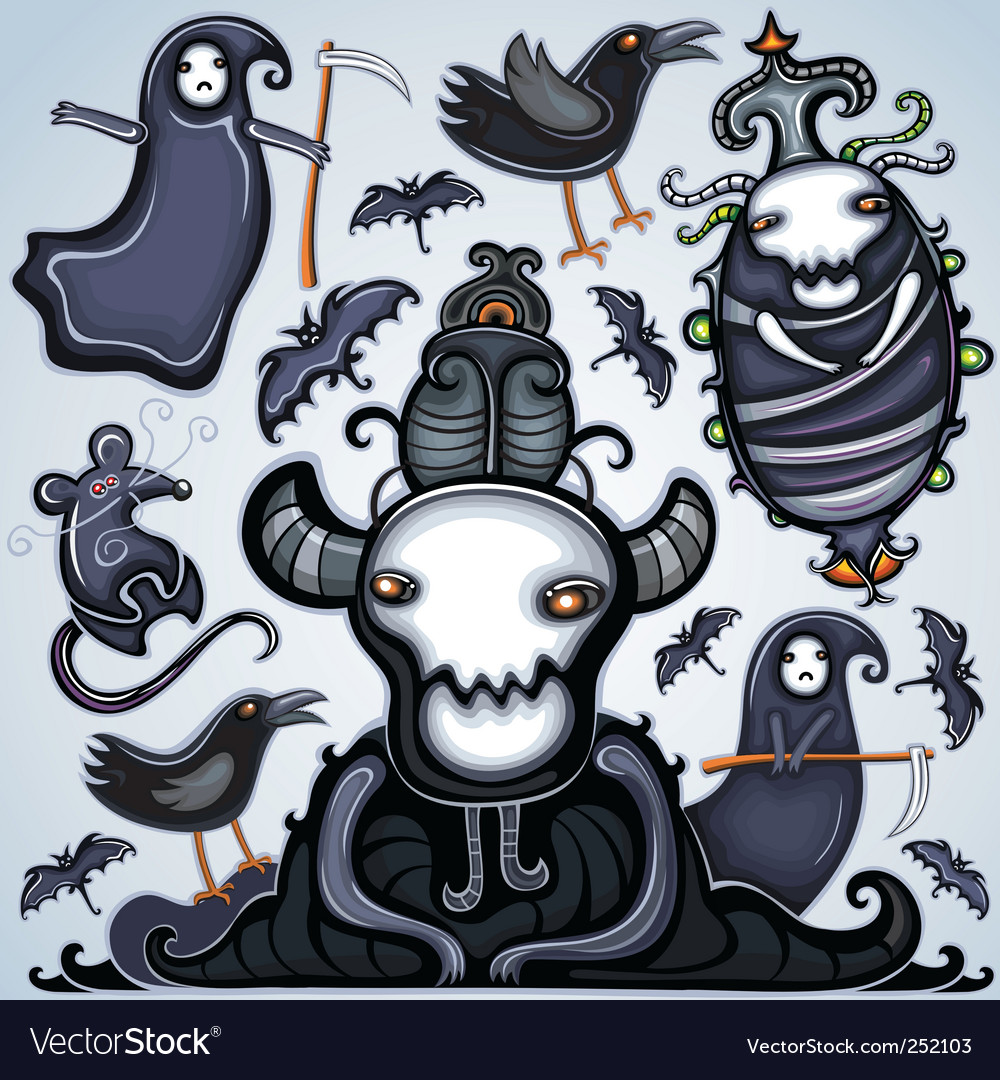 Halloween design elements vector | Price: 3 Credit (USD $3)
