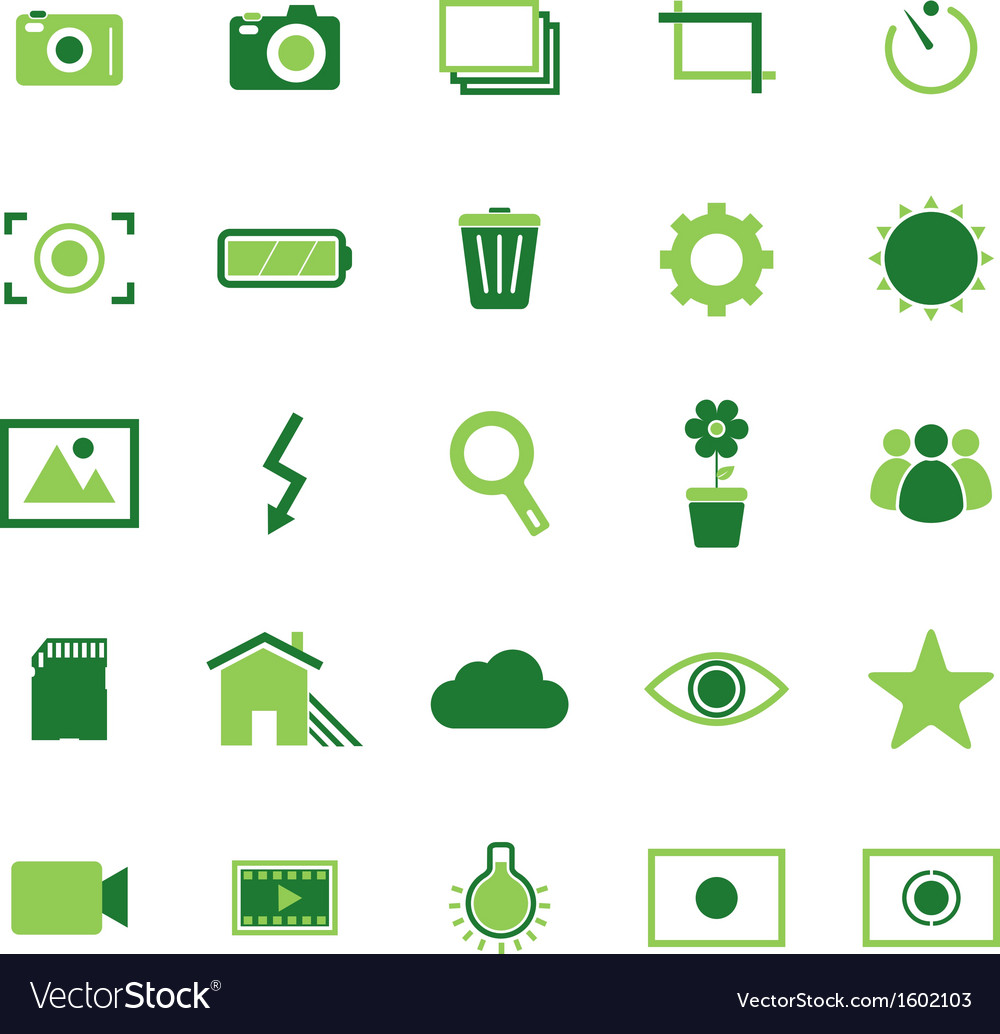 Photography color icons on white background vector | Price: 1 Credit (USD $1)