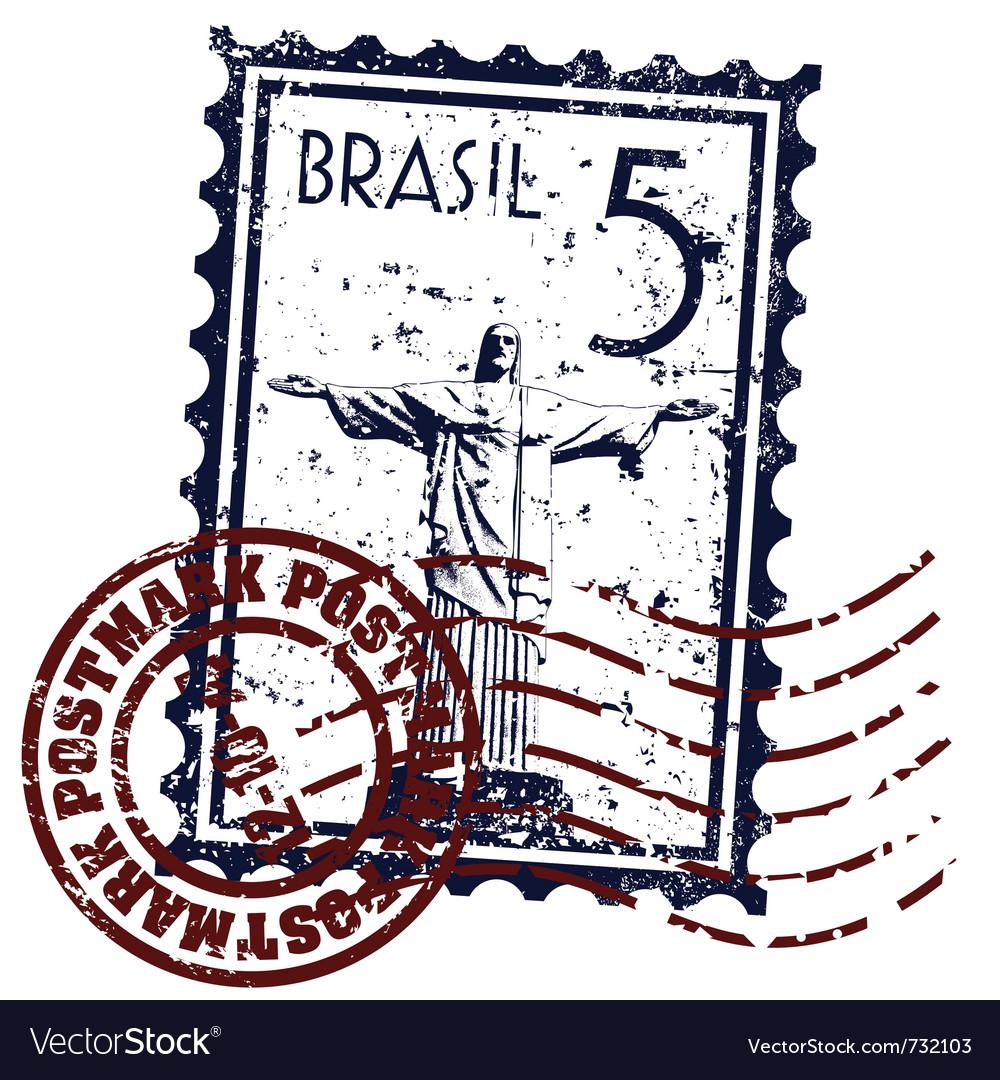 Rio de janeiro stamp vector | Price: 1 Credit (USD $1)