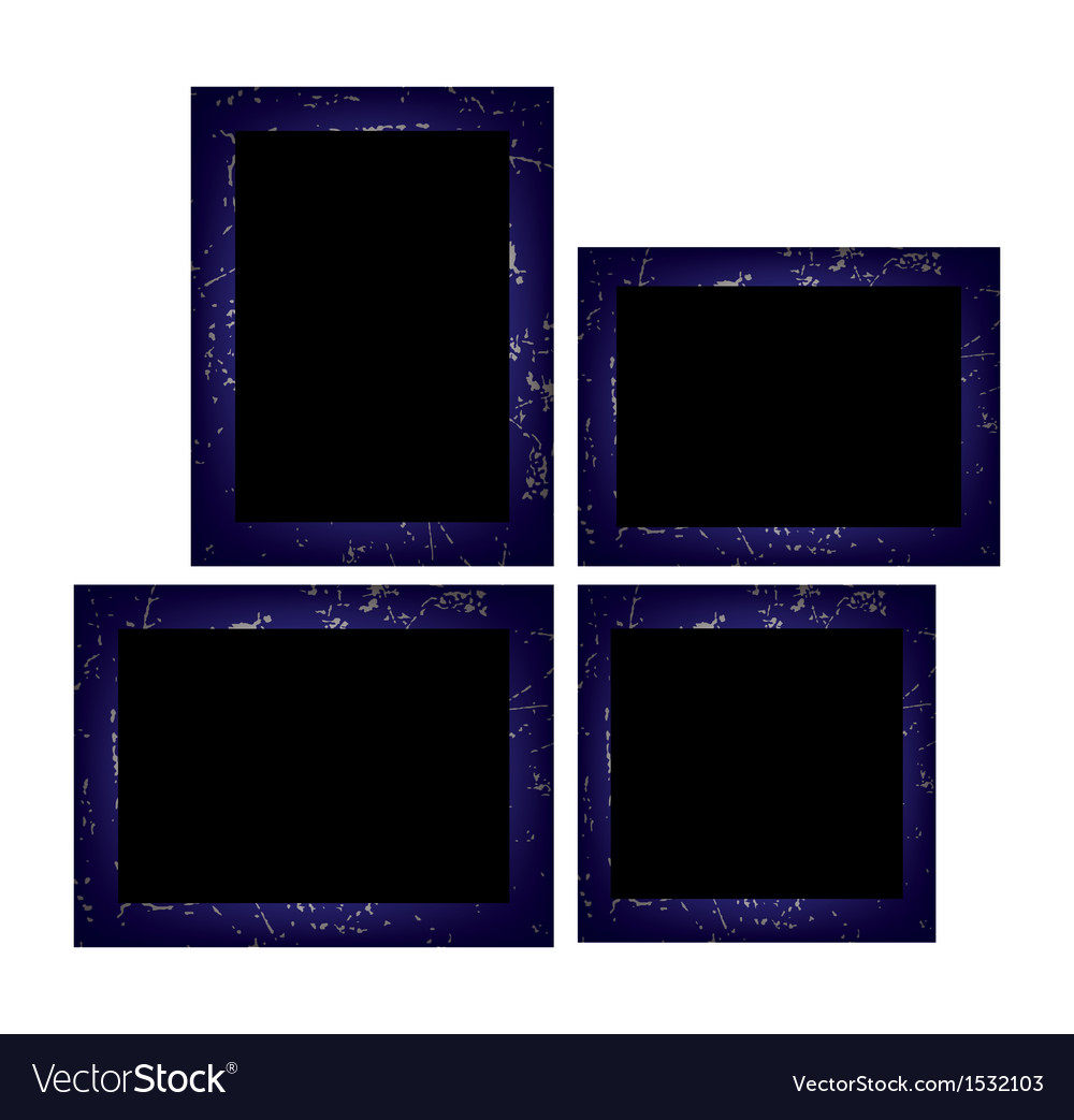Set of photo frames isolated on white background vector | Price: 1 Credit (USD $1)