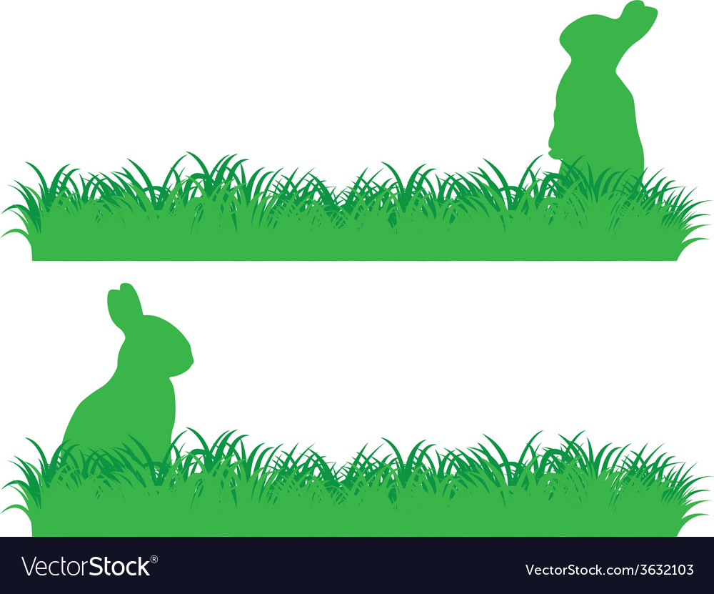 Simple bunny banner vector | Price: 1 Credit (USD $1)