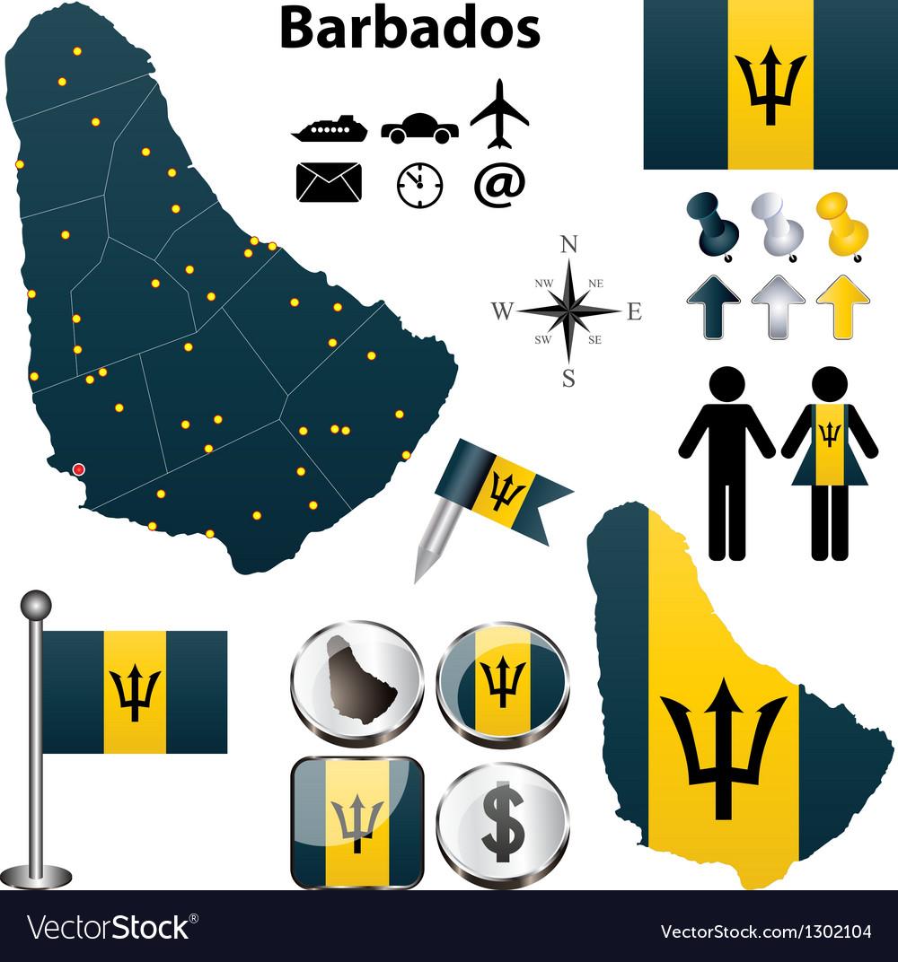 Barbados map vector   Price: 3 Credit (USD $3)