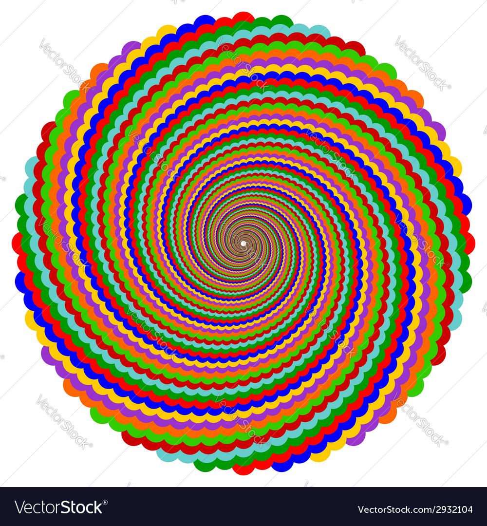 Design multicolor twirl rotation background vector | Price: 1 Credit (USD $1)
