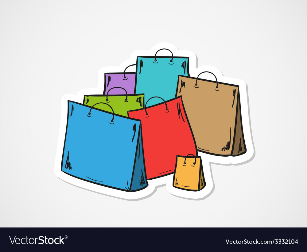 Few bags for shopping vector | Price: 1 Credit (USD $1)