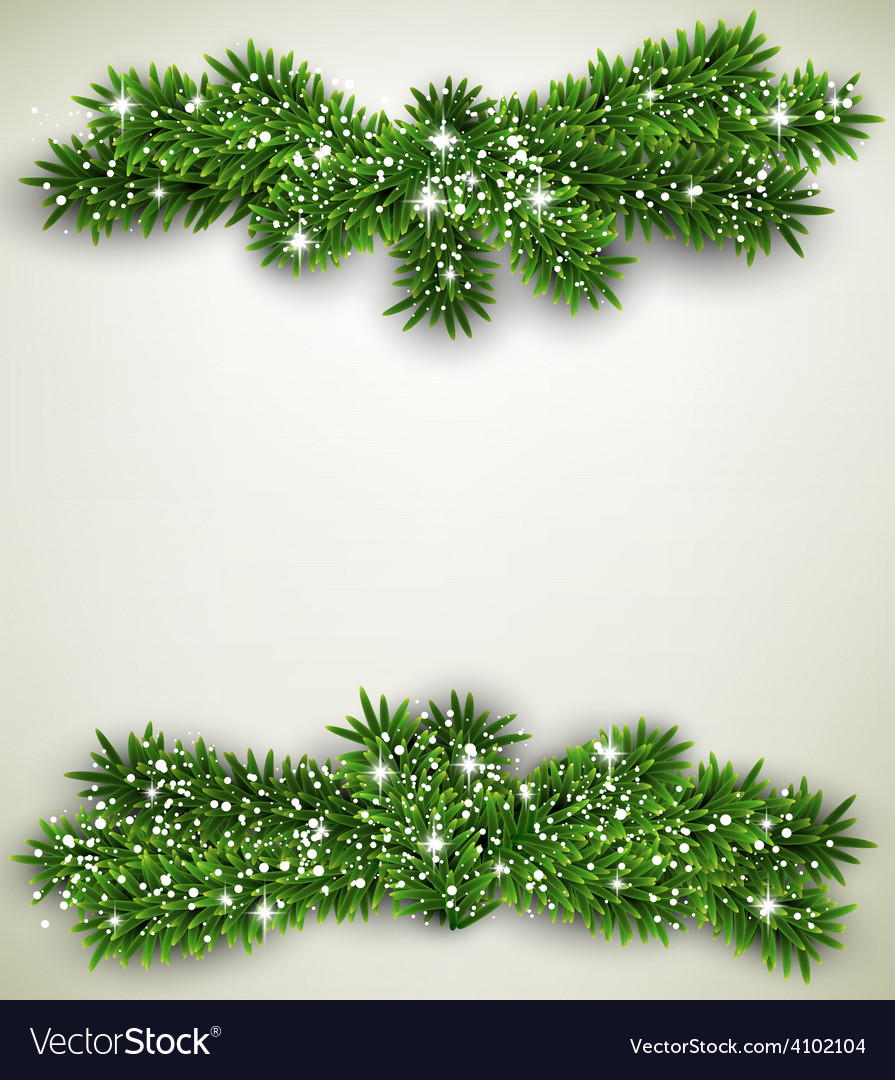 Fir bundle christmas frame vector | Price: 1 Credit (USD $1)