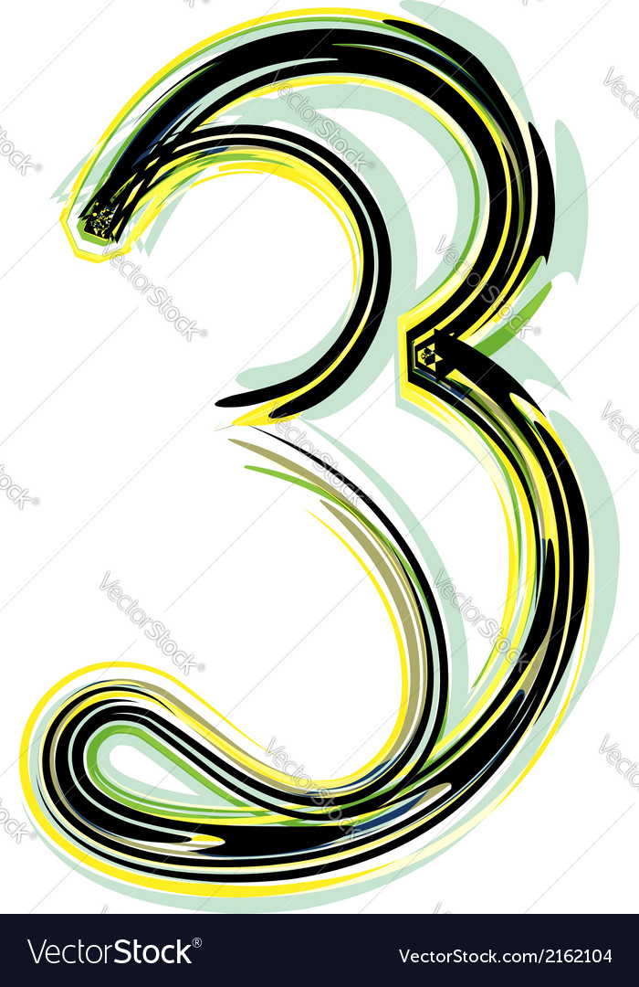 Font number 3 vector | Price: 1 Credit (USD $1)