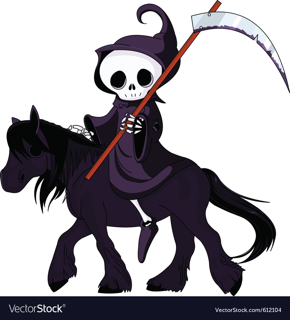 Grim reaper cartoon vector | Price: 1 Credit (USD $1)