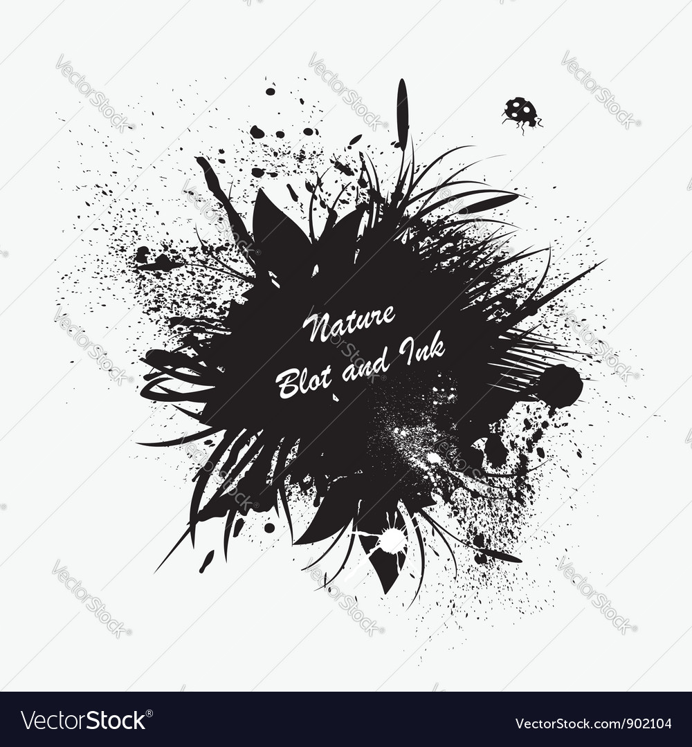 Ink blot vector | Price: 1 Credit (USD $1)
