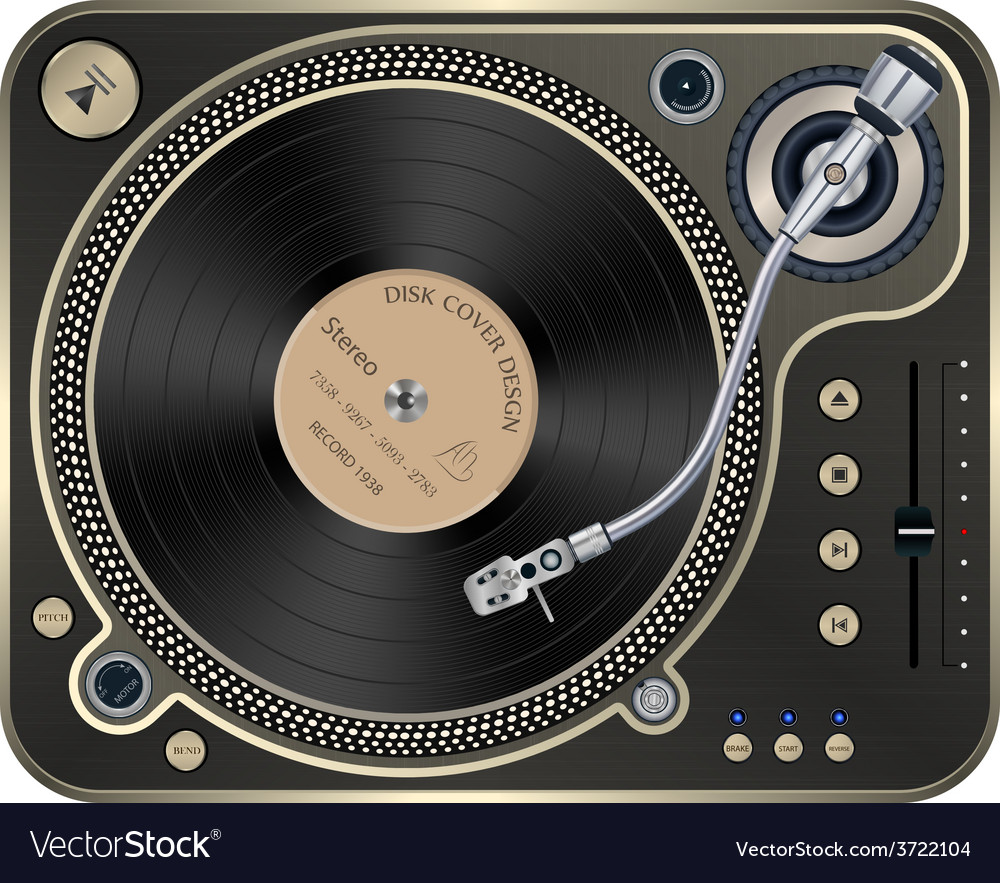 Interface turntables on whete background vector | Price: 1 Credit (USD $1)