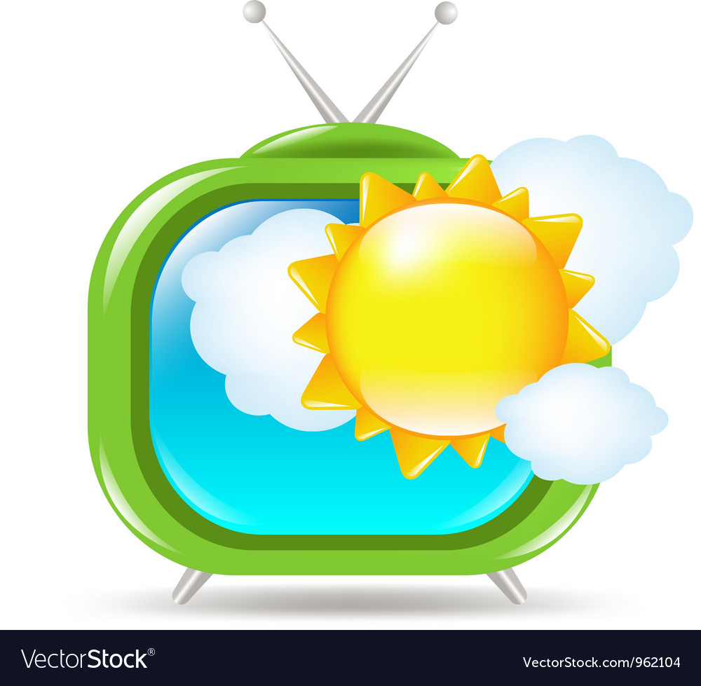 Retro weather tv vector | Price: 1 Credit (USD $1)