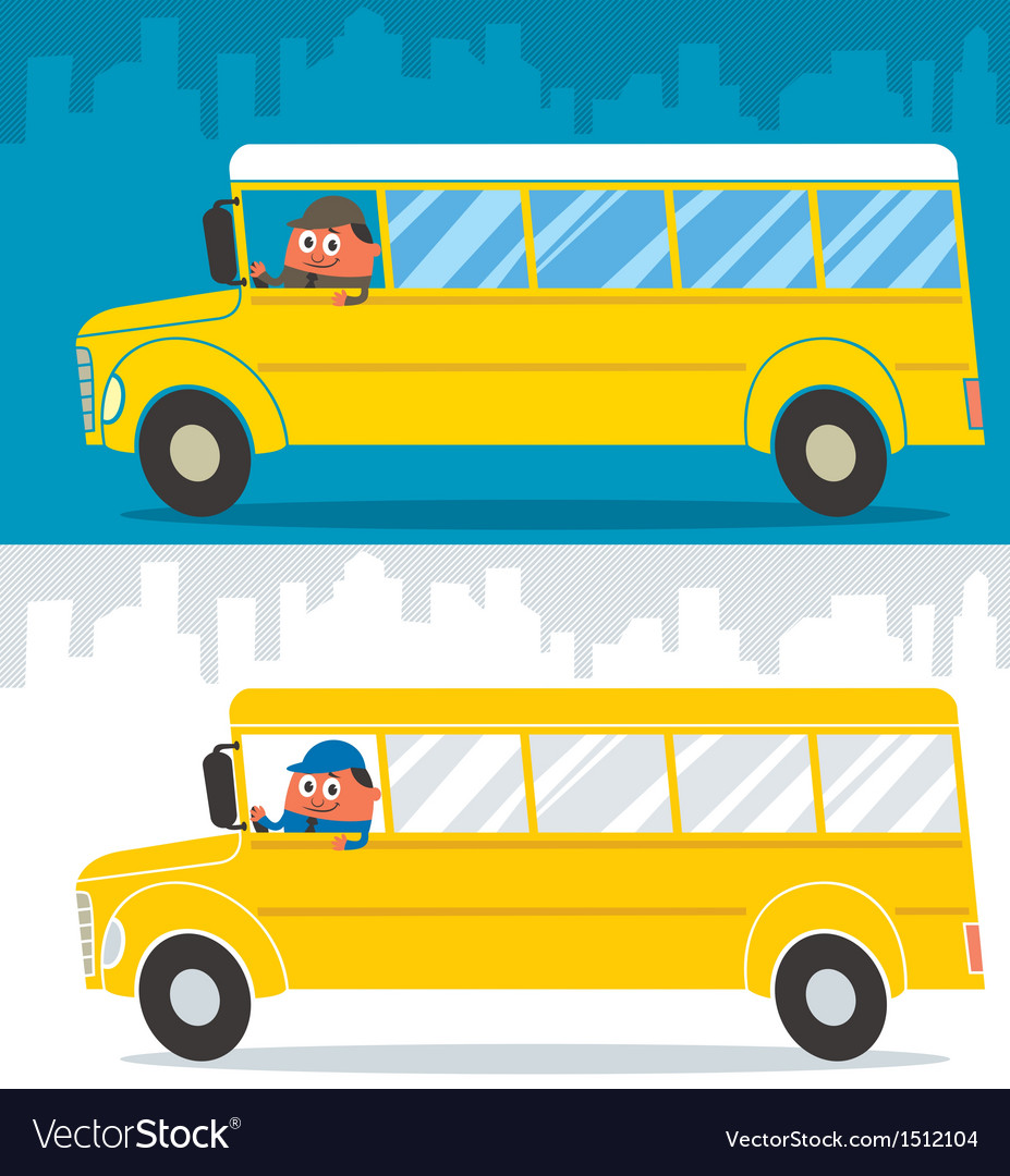 School bus driver vector | Price: 1 Credit (USD $1)