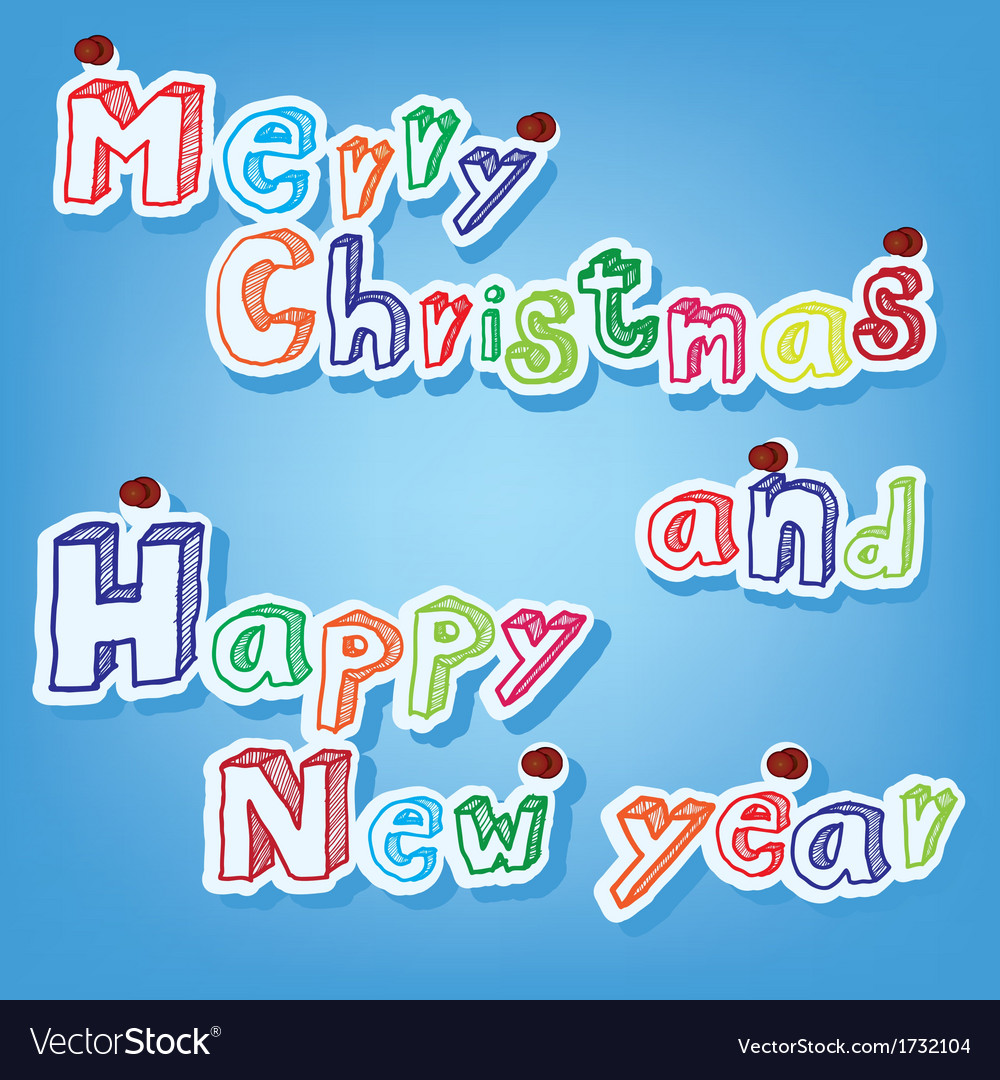 Text of merry christmas with pin vector | Price: 1 Credit (USD $1)