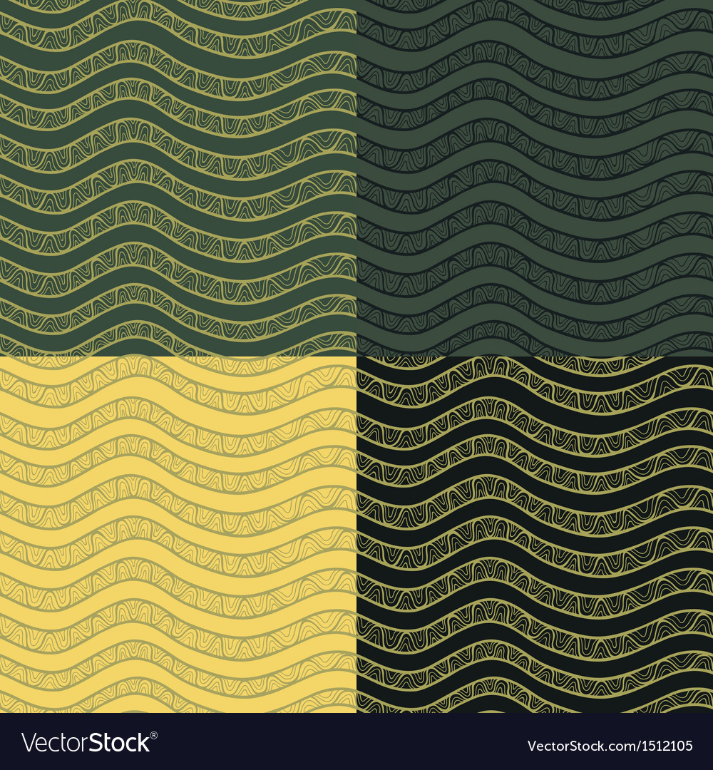 Abstract wavy seamless pattern set in contrast vector | Price: 1 Credit (USD $1)