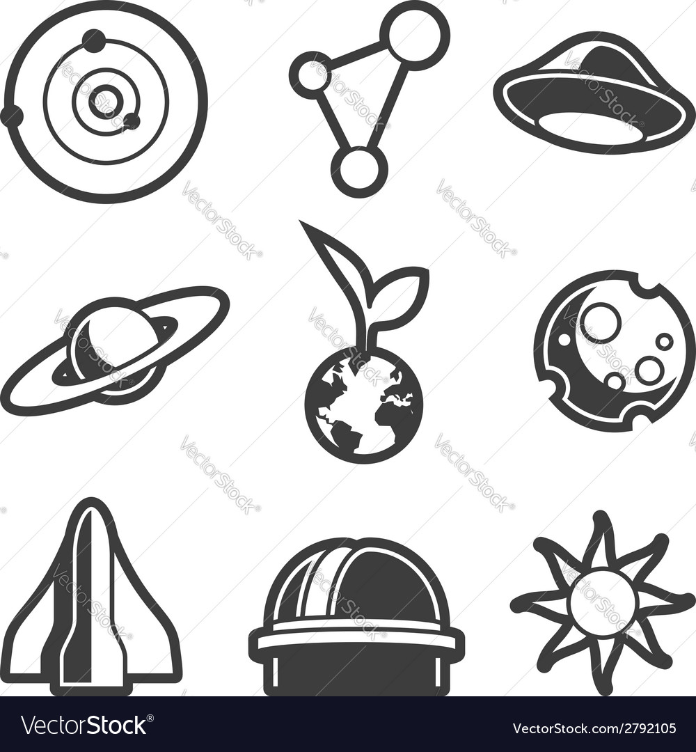 Astronomical icons vector | Price: 1 Credit (USD $1)