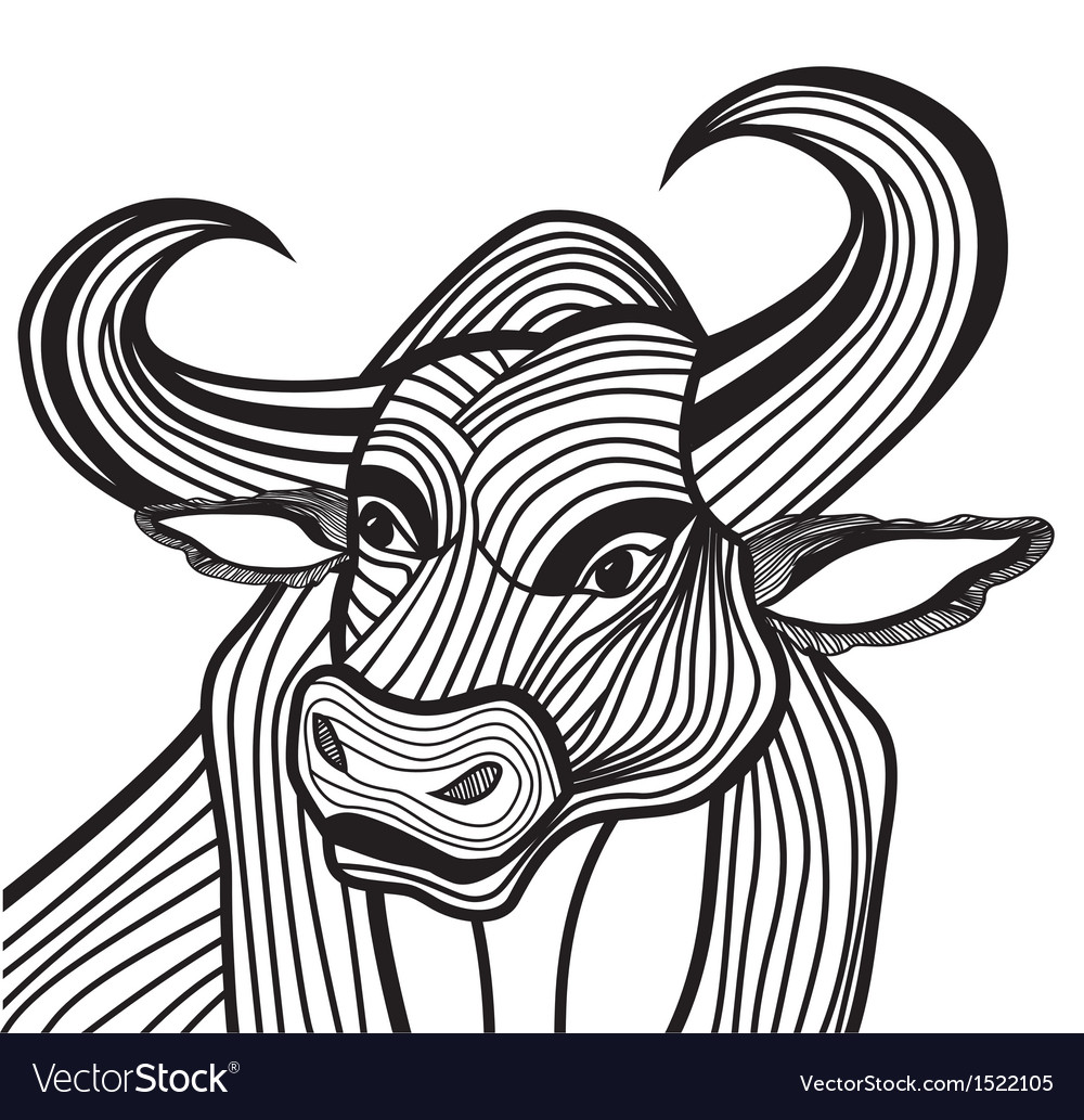 Bull head animal for t-shirt vector | Price: 1 Credit (USD $1)