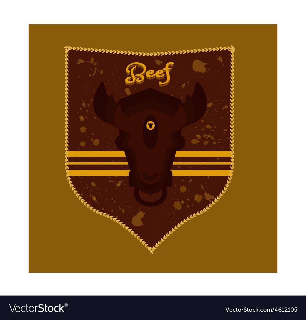 Crest bulls head vector | Price: 1 Credit (USD $1)