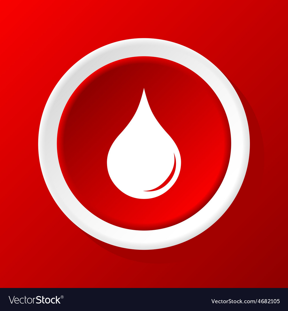 Drop icon on red vector | Price: 1 Credit (USD $1)