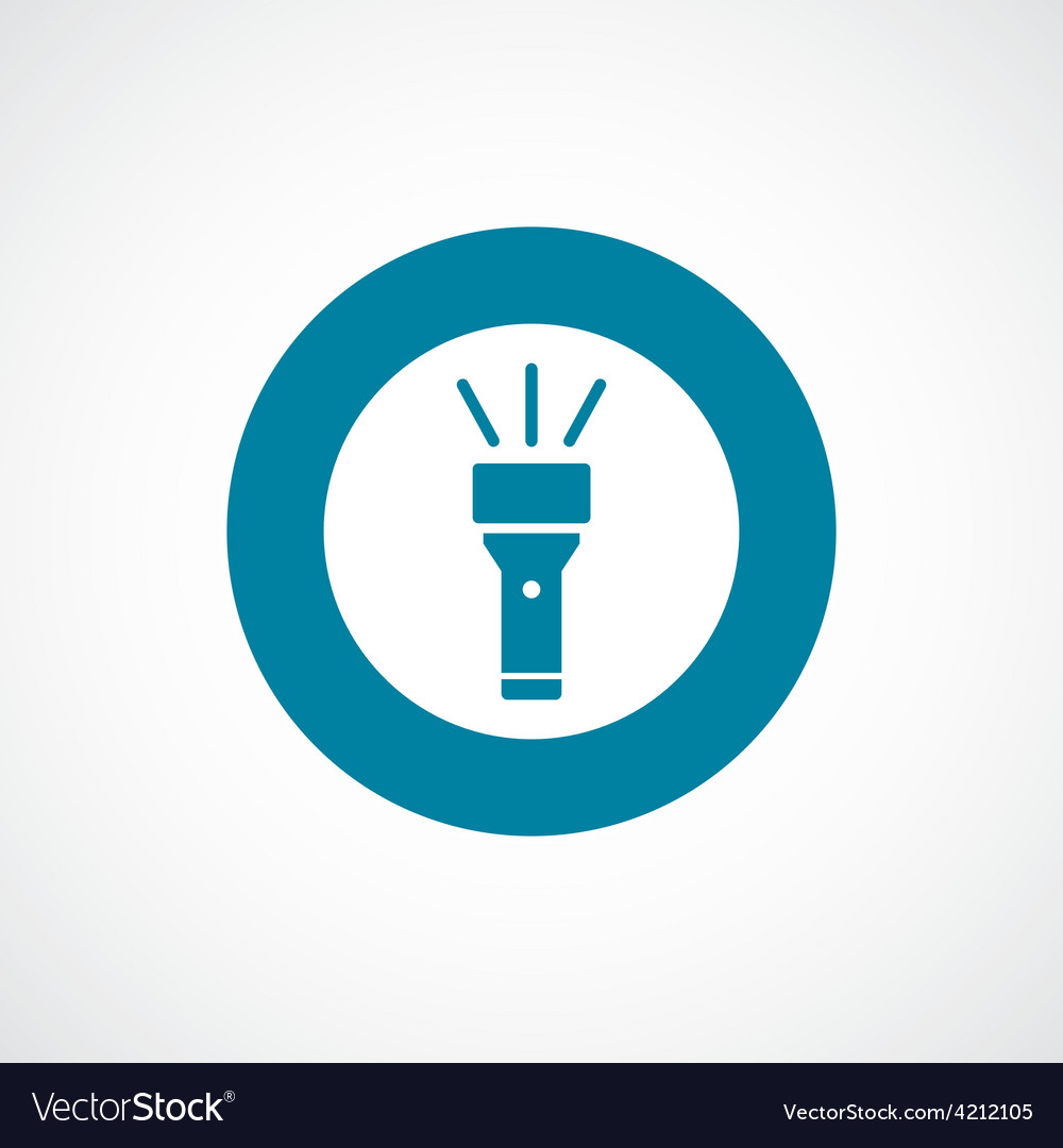 Flashlight icon bold blue circle border vector | Price: 1 Credit (USD $1)
