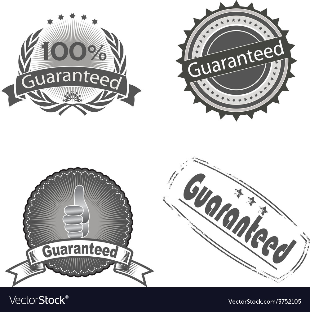 Guaranteed logo vector   Price: 1 Credit (USD $1)