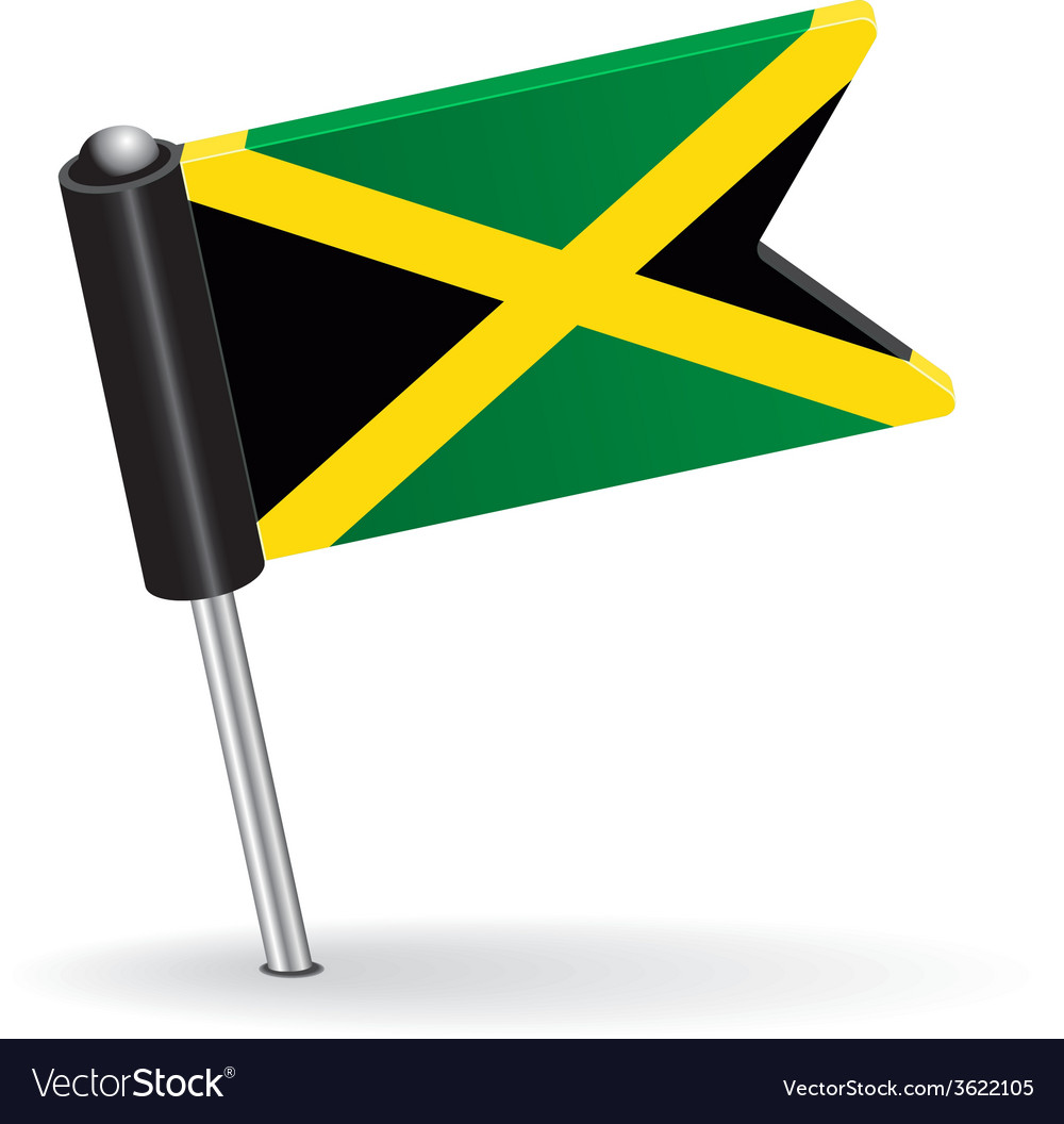 Jamaica pin icon flag vector | Price: 1 Credit (USD $1)