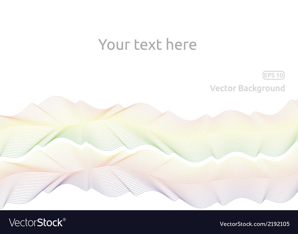 Line waves vector | Price: 1 Credit (USD $1)