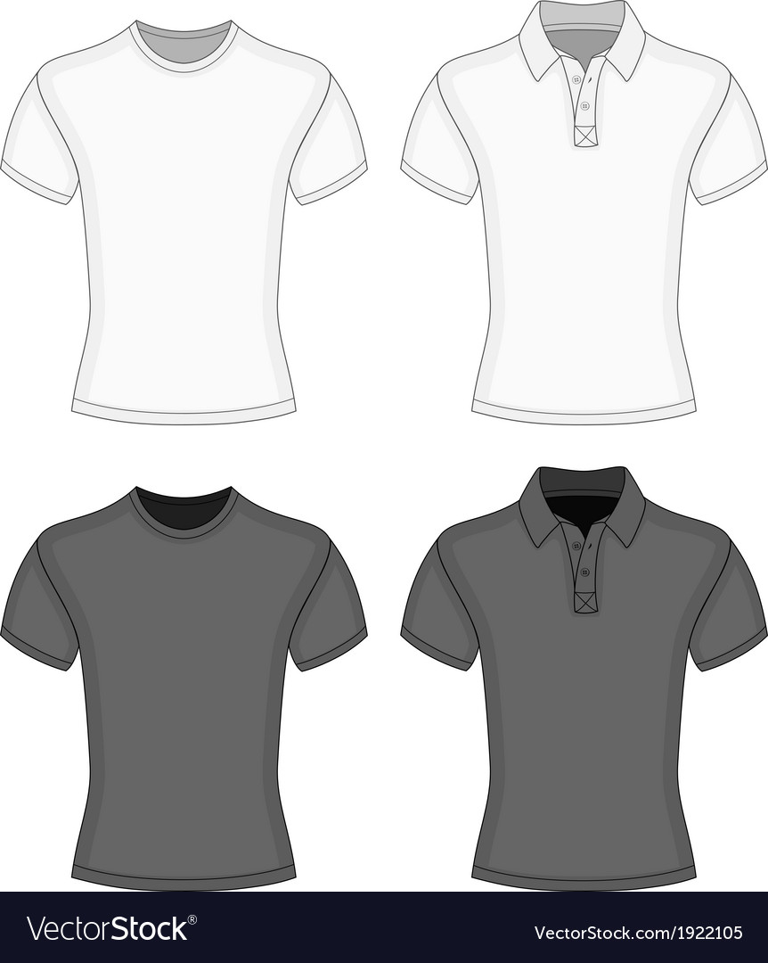Mens t-shirt and polo-shirt vector | Price: 1 Credit (USD $1)