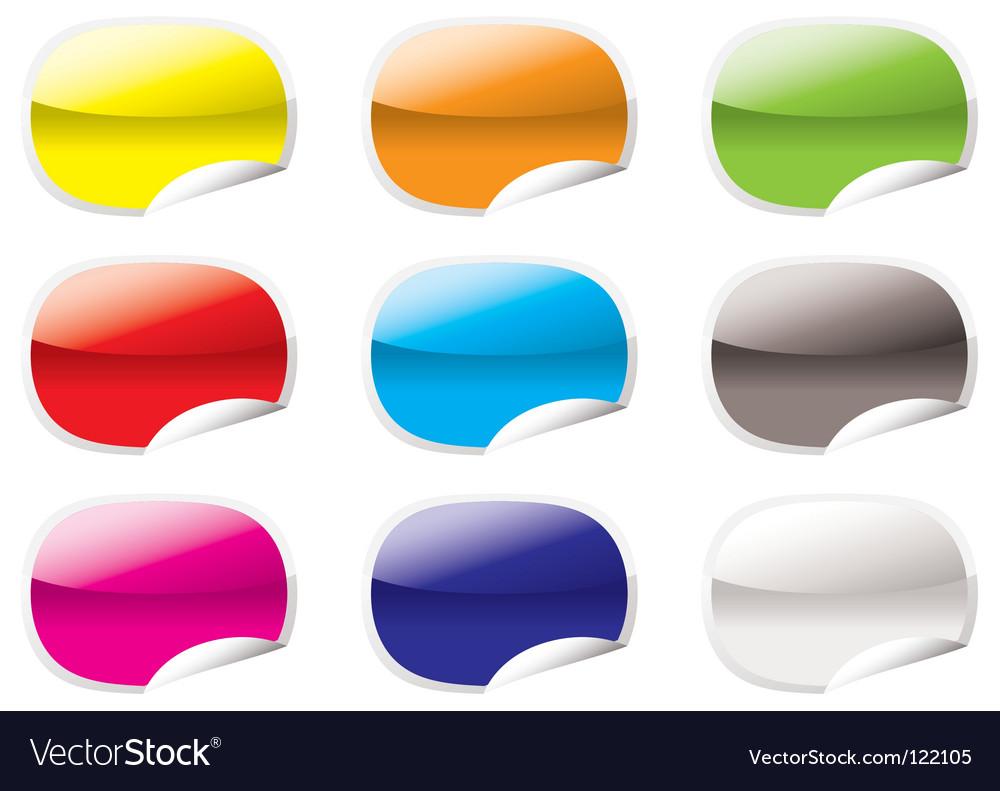 Peel corner icons vector | Price: 1 Credit (USD $1)