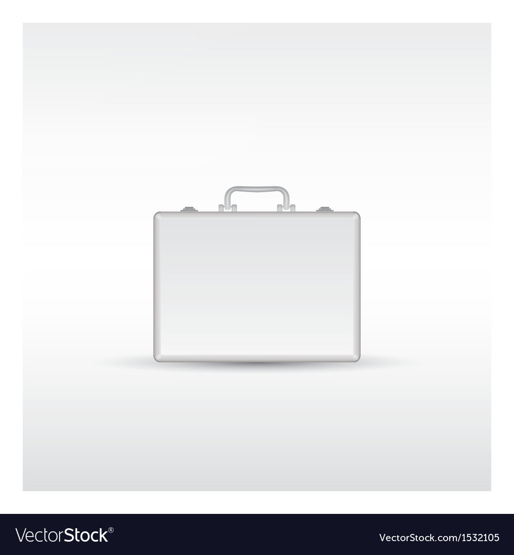 Silver metal briefcase vector | Price: 1 Credit (USD $1)