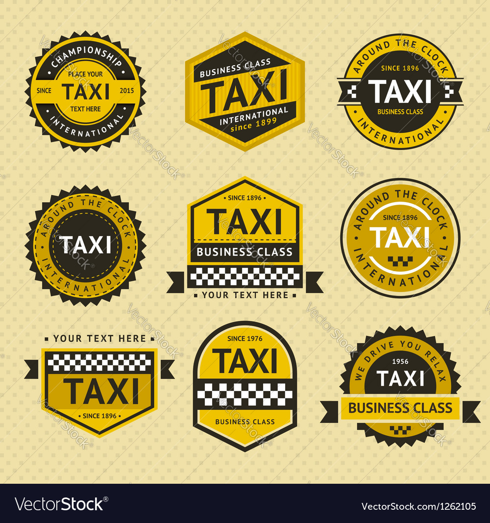 Taxi insignia vintage style vector | Price: 1 Credit (USD $1)