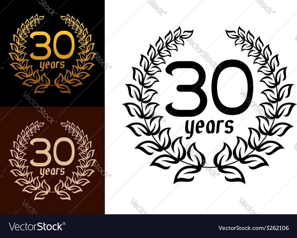 30 years anniversary wreaths vector | Price: 1 Credit (USD $1)