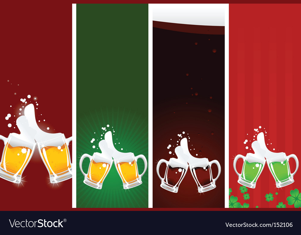 Beers banners vector | Price: 1 Credit (USD $1)