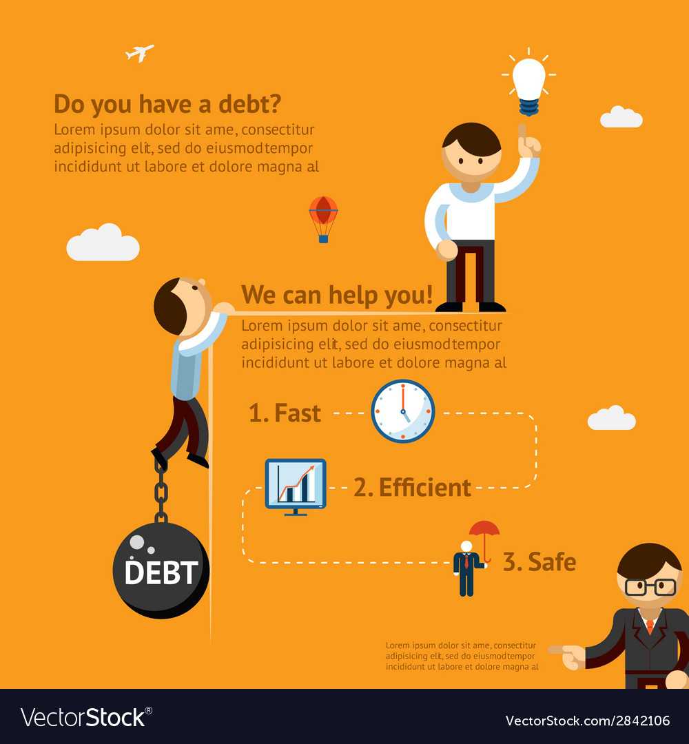 Debt poster concept vector | Price: 1 Credit (USD $1)