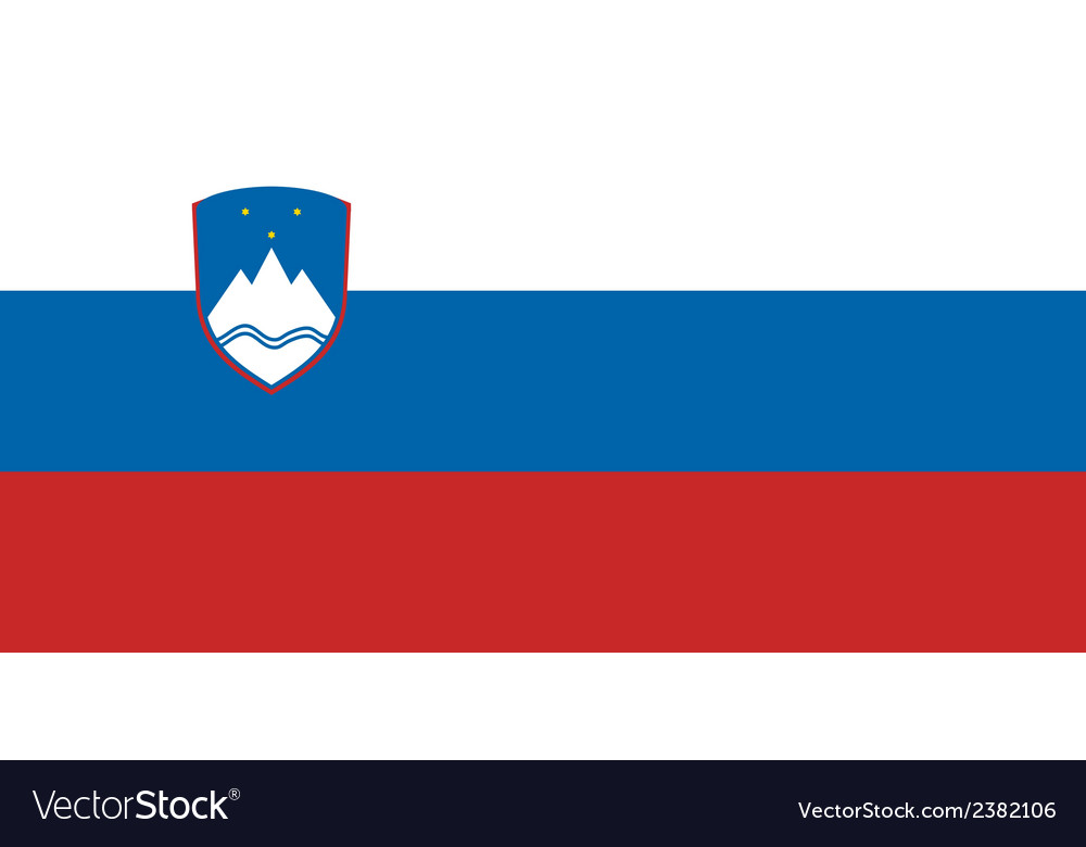 Flag of slovenia vector | Price: 1 Credit (USD $1)