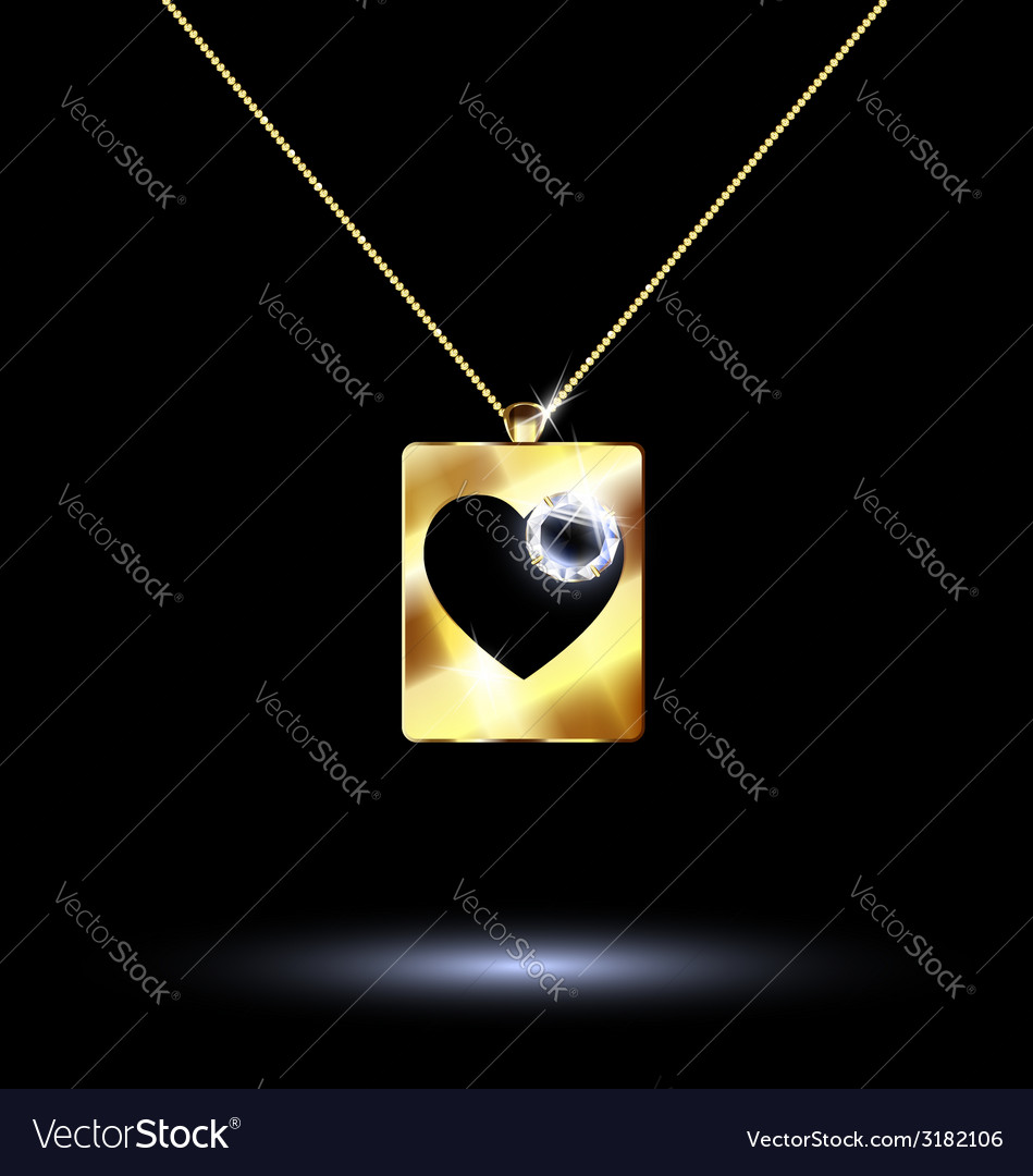 Pendant card suit hearts vector | Price: 1 Credit (USD $1)