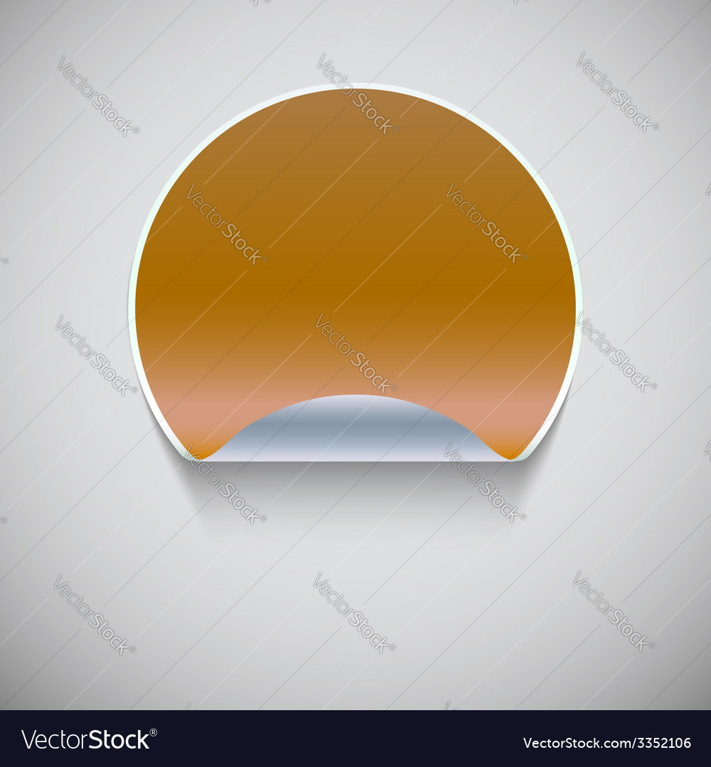 Round yellow sticker vector | Price: 1 Credit (USD $1)