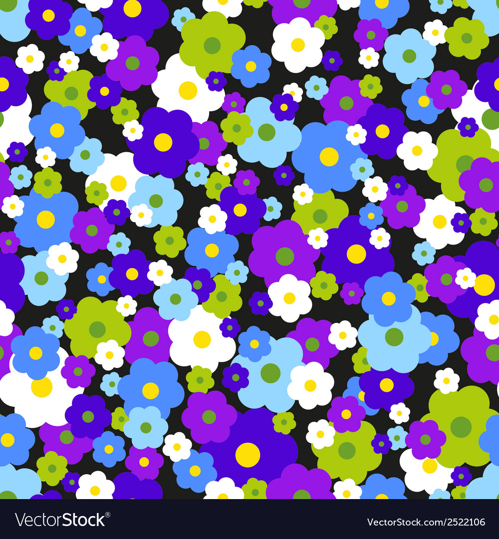 Seamless background with daisies vector | Price: 1 Credit (USD $1)