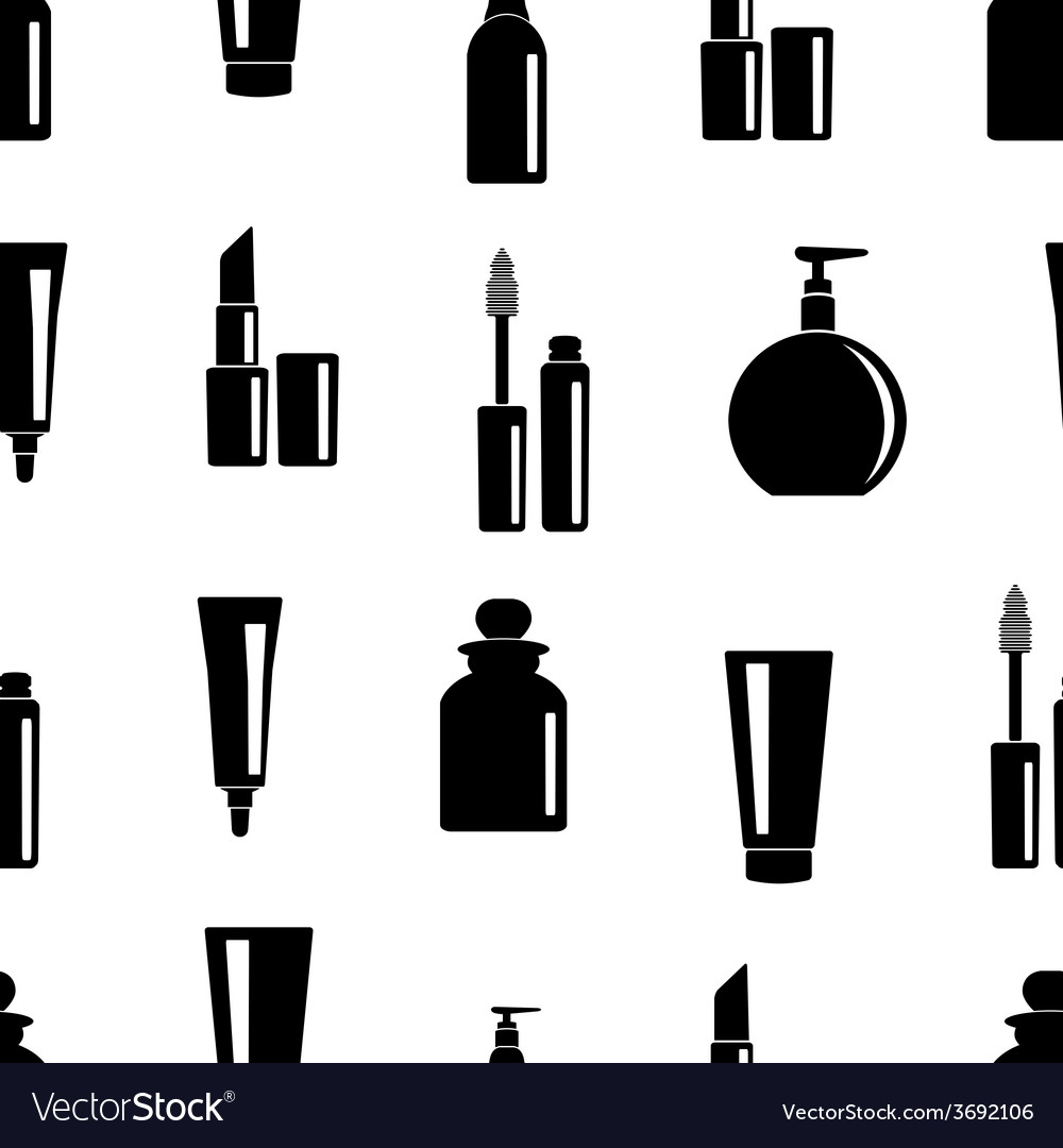 Seamless pattern of toiletries icons vector | Price: 1 Credit (USD $1)