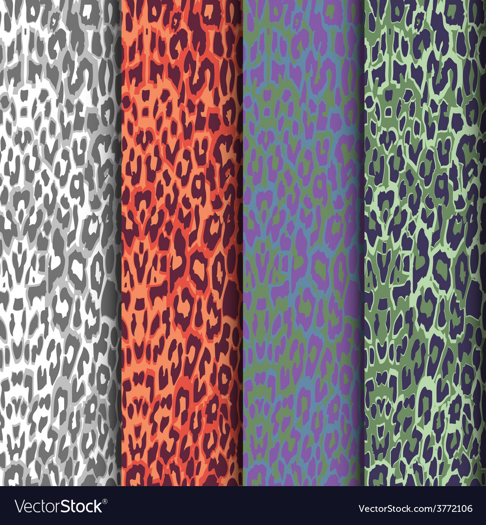 Set of seamless leopard patterns vector | Price: 1 Credit (USD $1)